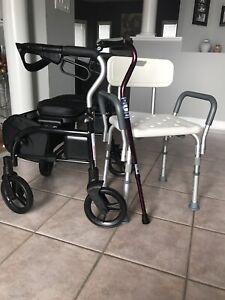 Walker/Shower Chair/Cane