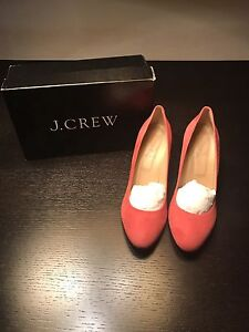 New J Crew Suede wedges size 11