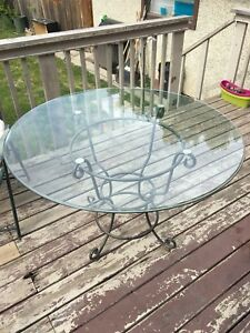 "48"" glass table"
