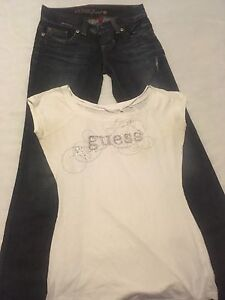 Women's, size 28 w, Guess, boot cut jeans