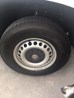 4 x 16 inch wheels and tyres off Amarok Bridgestone Dueler H/T