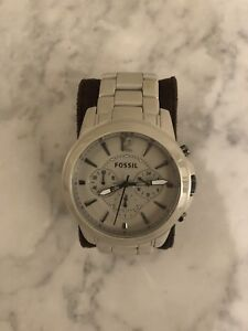 Men's Grey Ceramic Fossil Watch