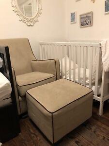 Monte Luca Glider Chair & Matching Ottoman
