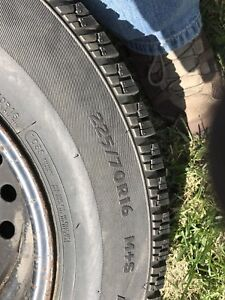 """5x114 16"""" rims and winter tires 235/70/16"""