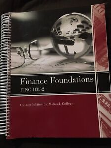 Finance Foundations text book  from Mohawk College
