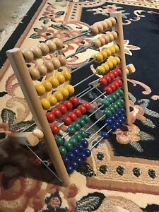 Wooden Abacus for math