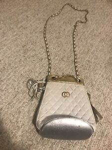 White and gold purse