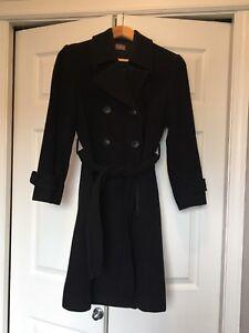 Maternity wool blend 3/4 coat XS