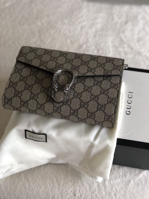 5a638bf40e7 100% authentic Gucci Dionysus supreme wallet on chain