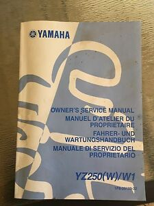 Yamaha YZ250 service manual Woodvale Joondalup Area Preview