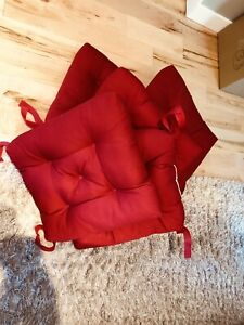6 Red Cushions for Pátio furniture