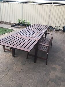 IKEA outdoor table + chairs Novar Gardens West Torrens Area Preview