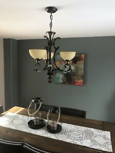Bronze Iron Chandelier