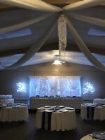 Chair covers, vases, mirrors, back drops, tablecloths and more