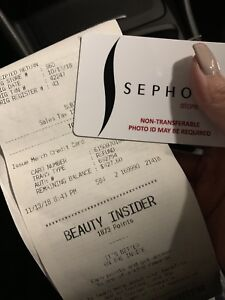 Sephora gift card $427.60 selling for $400