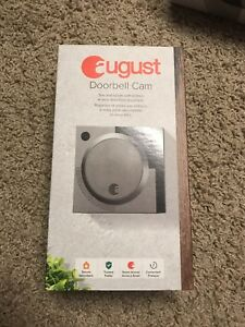 August Home Smart Doorbell Camera - Silver-Brand New Only$110!!!