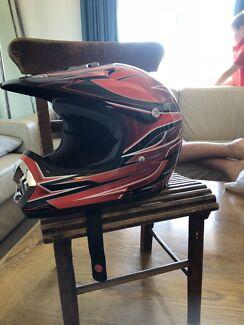 Children's motorbike helmet