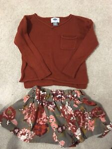 Sweater and skirt size 3