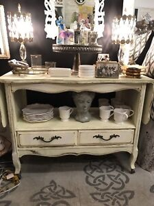 French provincial media cabinet / drinks cart