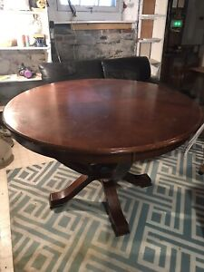 Cherry Brown Wood Table — GOOD USED CONDITION