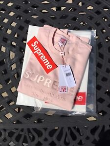 Supreme Lacoste Pink Crewneck Sweater SS17 DS Size L