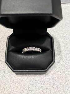 Eternity Ring Four Prong 2.7 CT 14k white gold 7.5