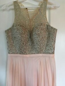 Blush & Gold Evening Gown