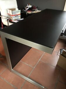 Executive desk and multi function cabinet