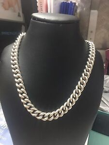 925 sterling silver necklace 138 grams Carrara Gold Coast City Preview