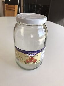 Qty 10 of 2 liter glass jars for canning or food storage