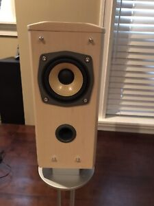 JVC bookshelf speakers with stands