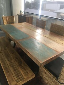 Rustic Dining Table And Matching Buffet