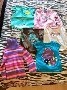 6 shirts for baby girl 18-24 months