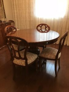 Antique Formal Dining Room set with hutch