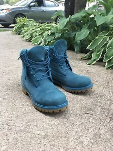 "Timberland 6"" boot teal blue size 9.5m"