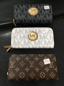 Michael Kors and Louis Vuitton designer inspired wallets