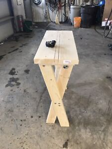 Entry table and shelf