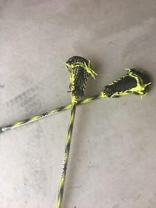New junior Reebok lacrosse sticks and ball