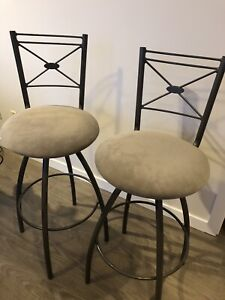 High end bar chairs (two)