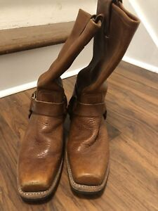Frye all leather moto boots