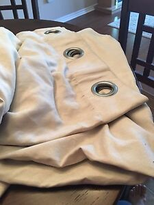 Light beige grommet curtains **REDUCED**