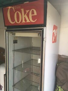 Older Coke/7-up fridge