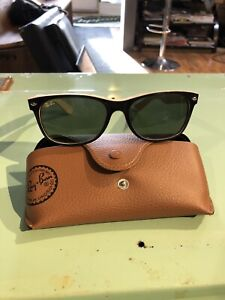 White and black authentic RayBan's