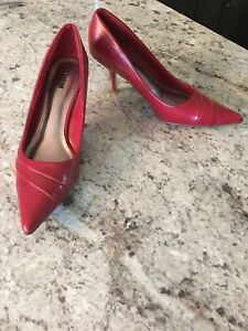 Red high heel pumps size 7 by spring