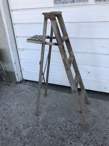 Vintage 5' Wooden Step Ladder