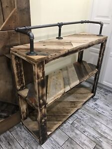 Industrial / Rustic Style Reclaimed Wood Bar Table