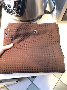 Elegant chocolate brown woven shower curtain NEW !