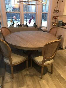 Real Restoration Hardware kitchen table and four chairs