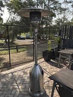 3 stainless steel gas heaters.