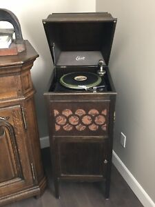 First $ 300 gets this ANTIQUE GRAMOPHONE